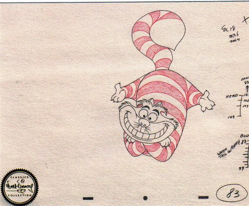 Disney WDCC Cheshire Cat Sketch Numbered!