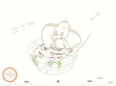 Disney WDCC Dumbo Sketch Numbered! never sold