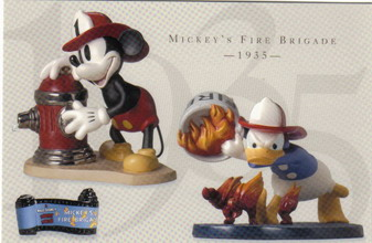 Disney WDCC Mickey & Donald Duck Fire Fighter Print