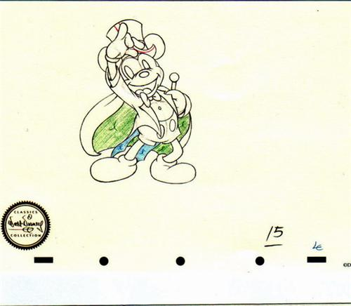 Disney WDCC Mickey Magician Sketch Numbered! never sold