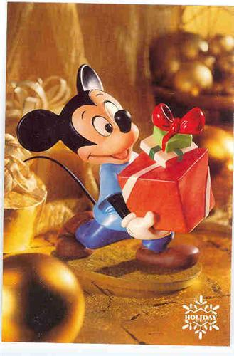 Disney WDCC Mickey Mouse holding a present Cheap
