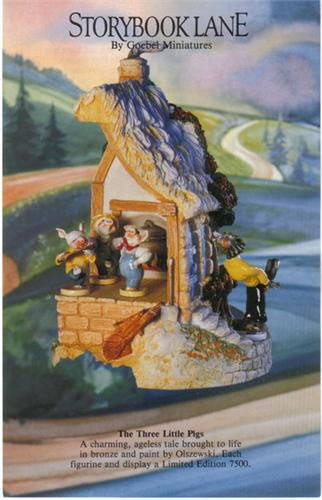 Disney Wolf & three Pigs Goebel Miniatures Brochure