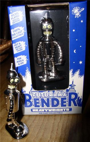 Futurama Die Cast Metal Bender 3 in. Heavy Weight New