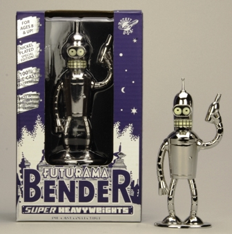 Futurama Die Cast Metal Shinny Bender 5 inches Heavy