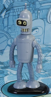 Futurama DieCast Metal Grey Bender 3 in Heavy New