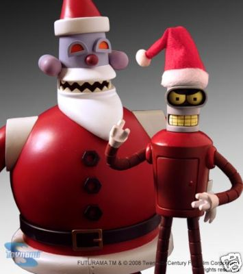 Futurama Robot Santa/Bender Two-Pack Comic Con 08 SDCC