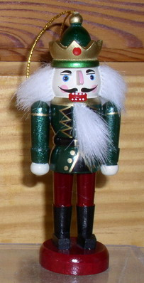 King with gold crown  Nutcracker Wooden Ornament