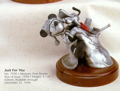 Mickey Mouse & Pluto Dog Just for You Pewter
