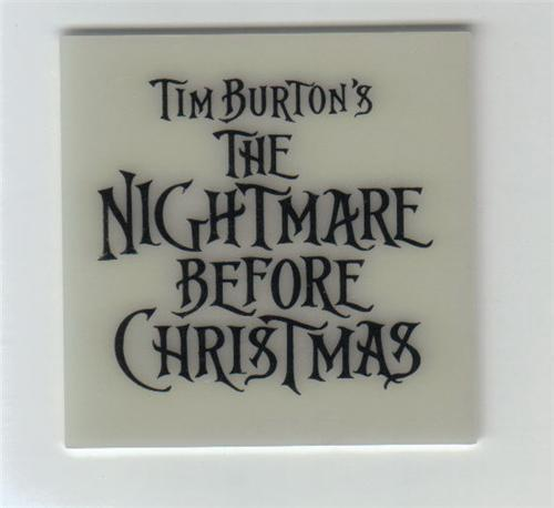 Nightmare Be4 Christmas Logo Glow in Dark