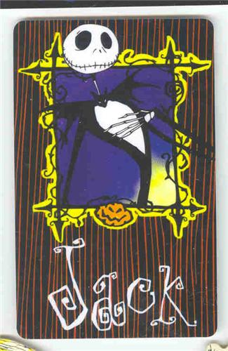 Nightmare Before Christmas Pumpkin Jack Bookmark Rare