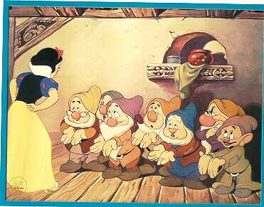 Snow White - Gold Seal Never Sold Lithograph