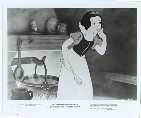 Snow White - Old Kettle stove Original press photo