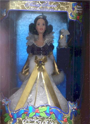 Snow White Holiday Princess Doll by Mattel - New