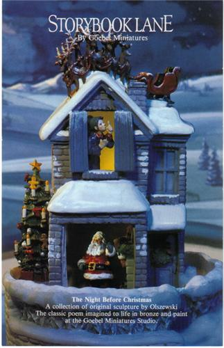 The Night Before Christmas story book Goebel Miniatures
