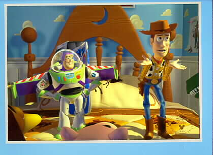 Toy Story 1 Disney Buzz & Woody Lithograph