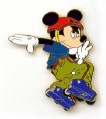 Disney  Mickey  Mouse Roller Blading Sport Pin/Pins