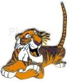 Disney Shere Khan tiger Jungle Book lying down pin/pins