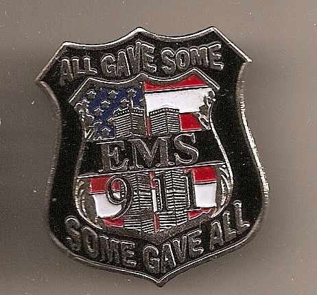 9/11 EMS Flag Lapel  TWIN TOWERS Pin/Pins  Badge