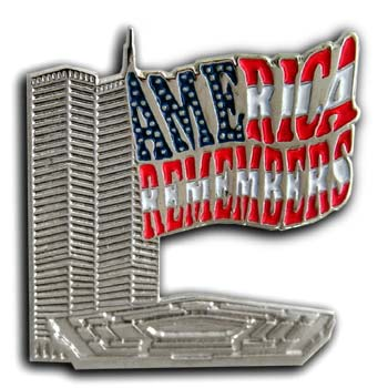 9/11 Twin Towers Lapel USA Flag  Pin/Pins Badge