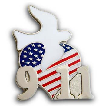 9/11  Flag  Lapel Dove  Pin/Pins Badge