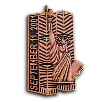 911 Twin Towers Statue Of Liberty Lapel  Pin/Pins Badge
