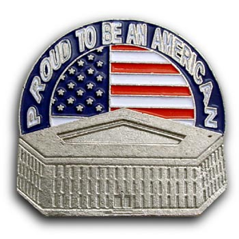 9/11 USA Flag Pentagon Pin/Pins Badge