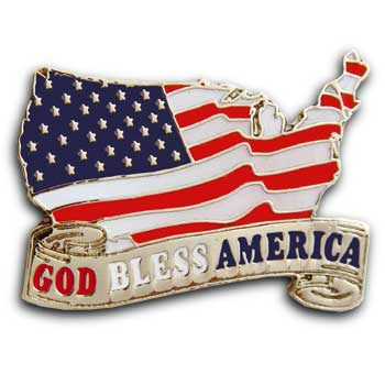 911  Flag  Lapel God Bless America Pin/Pins Badge