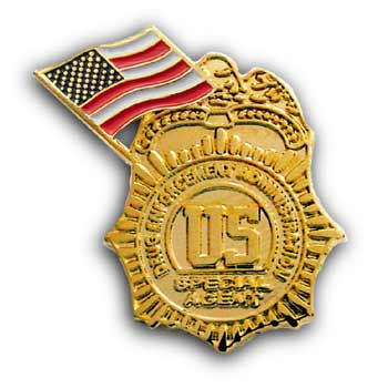 USA GOLD Special Agent Police  Flag Pin/Pins Badge