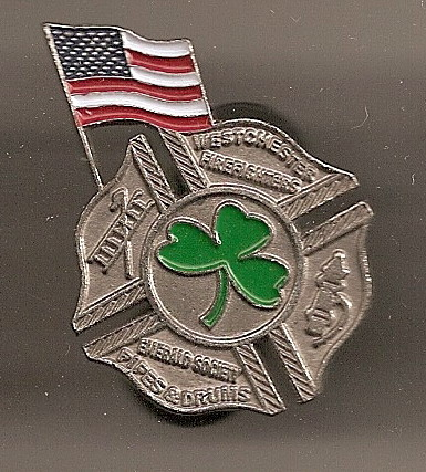 Fire Department 3 leaf clover  Flag  Lapel  Pin Badge