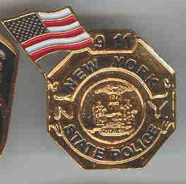 9/11 New York State  Gold Lapel  Pin/Pins  Badge