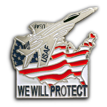 9/11 Flag Airplane USAF Lapel  Flag Pin Badge
