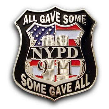 9/11 NYPD  Twin Towers flag Lapel Pin/Pins Badge