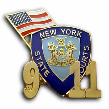 9/11 New York USA Flag with  logo Pin/Pins Badge