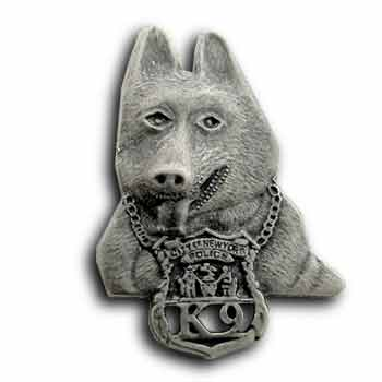 9/11  Police dog  Silver Pin/Pins Badge