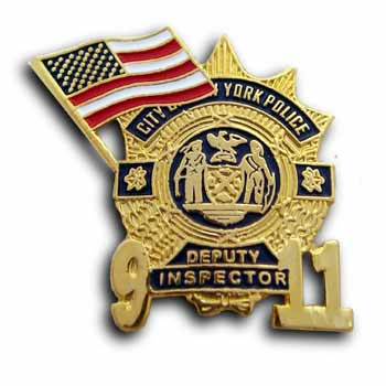 9/11   Deputy Gold Lapel Flag Pin/Pins Badge