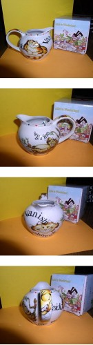 Alice in Wonderland  Creamer made of porcelain