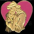 Disney lanyard Pocahontas & John Smith Heart  Pin/Pins