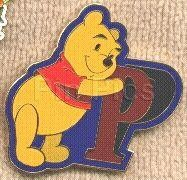 Disney Pooh Leaning on the Letter P Pin/Pins