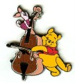 Disneyland  DLR - Pooh and Piglet Playing Bass Pin/Pins