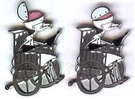 Disney Scientist  Dr. Finklestein wheelchair Hinged Pin