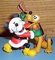 Disney Mickey & Pluto as a  reindeer Noel  Ornament