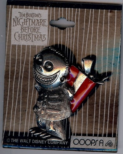 Nightmare Be4 Christmas Barrel holding present pin/pins