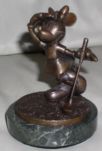 Disney Minnie Mouse Golf Bronze What Birdie