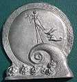 Nightmare Before Christmas Jack and Zero  pewter plaque