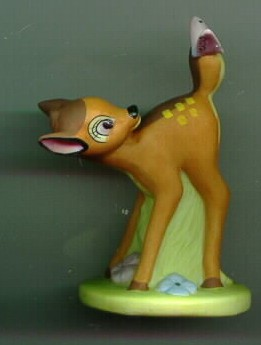 Disney Bambi  Porcelain  Bisque Miniature Figurine