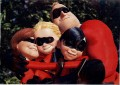 Disney Incredibles the cast Lithograph
