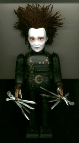 Edward Scissorhands Tin Wind up dated 1998 Japan
