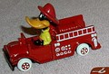 Looney Tunes  Daffy Duck Fire Truck WB Die Cast Metal