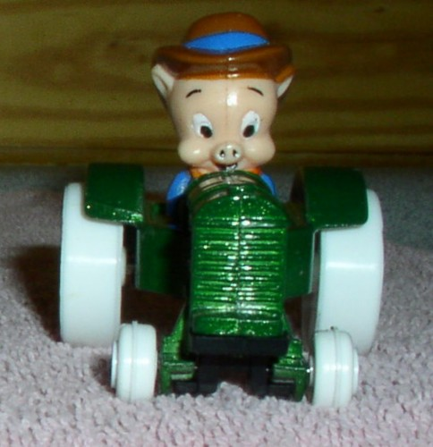 Looney Tunes Porky Pig farmer tractor WB Die Cast Metal