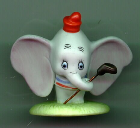 Disney Dumbo Porcelain  Bisque Miniature Figurine